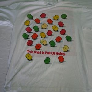 Vintage Holes Candy Coca-Cola Pop Music T-Shirt, L